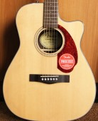 Fender CC-140 SCE Concert Solid Top Cutway Natural com case