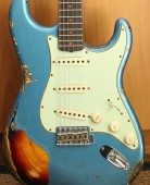 Fender Custom Shop Namm Ltd Edition 62 Stratocaster Heavy Relic Lake Placid Blue over 3 Tone Sunburst
